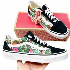 New Vans Old Skool Floral Print Lace Up Sneaker